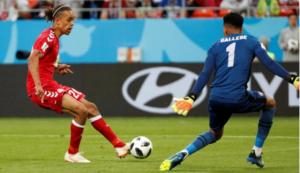 Le Danemark prend 3 points précieux face au Pérou