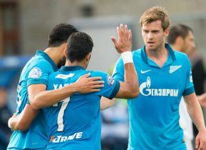 Zenit Tops Standard Liege with Early Shotav Goal