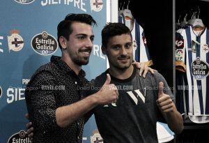 Isaac Cuenca y Roberto Canella, presentados oficialmente como blanquiazules