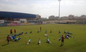Primera sesión del CF Fuenlabrada con sorpresas