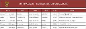 La pretemporada del Pontevedra CF