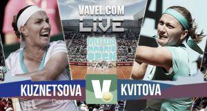 Resultado Kuznetsova vs Kvitova en la Final del WTA Premier Mandatory Madrid 2015 (0-2)