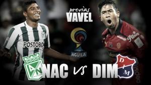 """Previa Atlético Nacional - DIM: El """"clásico por la paz"""" para afianzar el liderato"""