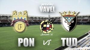 Pontevedra CF - CD Tudelano: sin Clarkson, a sellar objetivos