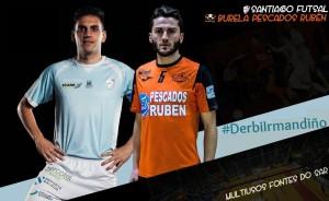 """Santiago Futsal - Burela FS Pescados Rubén: doble ración de """"derbi irmandiño"""""""