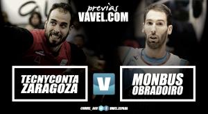Previa Tecnyconta Zaragoza - Monbus Obradoiro: primer partido sin Cuspinera