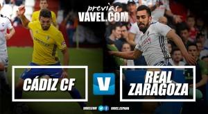 Previa Cádiz CF - Real Zaragoza: sólo vale una victoria