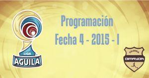 Así se jugará la Fecha 4 de la Liga Águila 2015-I