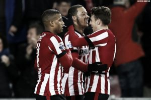 PSV 5-0 Go Ahead Eagles: Depay brace ensures four point gap at the top