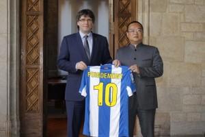 Chen visita a Colau y Puigdemont
