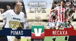 Resultado y goles del partido Pumas 1-3 Necaxa en Copa MX 2018