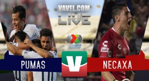 Resultado y goles del partido Pumas 5-3 Necaxa en Liga MX 2018