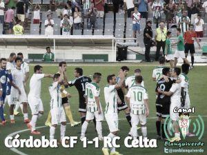 Córdoba CF - Celta de Vigo, puntuaciones del Córdoba