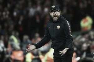 Eusebio Di Francesco sai de campo decepcionado, mas ainda acredita na classificação da Roma