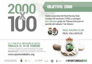 El Racing busca 2000 impositores más