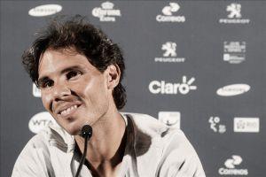 """Rafa Nadal: """"El partido ha sido positivo a pesar de la humedad"""""""