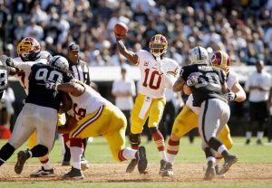 Los Redskins se desfogan con una remontada en Oakland