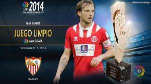 """Rakitic, premio """"juego limpio"""" de la temporada 2013/2014"""