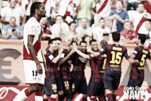 Fotos e imágenes del Rayo Vallecano - FC Barcelona, 7ª jornada de Liga BBVA