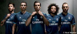 El Real Madrid presenta la tercera equipación de la temporada 2015/16