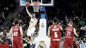 El Madrid atropella en los compases finales a un luchador Zaragoza