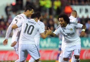 Eibar 0-4Real Madrid: Ronaldo brace keeps Ancelotti's men at the top of the table
