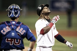Boston Red Sox down Chicago Cubs 6-2 behind eighth-inning outburst