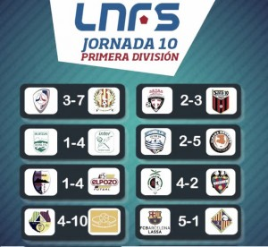Resumen de la décima jornada de la Liga Nacional de Fútbol Sala