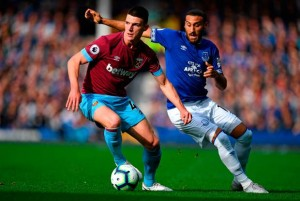 Declan Rice praises his teams near perfect performance in 3-1 win against Everton.