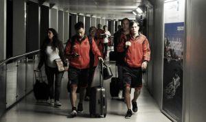 El plantel de River Plate ya llegó a Colombia