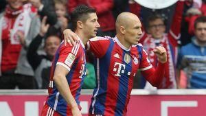 Lewandowski et Robben larguent Dortmund, le Werder sombre