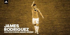James Rodriguez wins Puskás Award for Goal of the Year