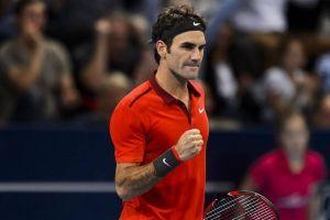 Federer se exhibe ante Dimitrov