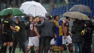 Suspendido por la lluvia el Roma - Parma