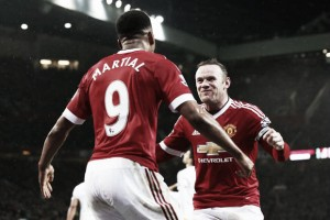 Anthony Martial learning from strike partner Rooney
