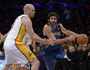 Un estelar Ricky Rubio hunde a los Lakers