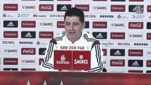 """Rui Vitória: """"Estoy contento con mis jugadores"""""""