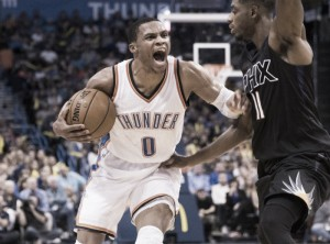 Russell Westbrook equals 40-year-old record in overtime win against the Phoenix Suns