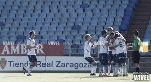 La buena primera parte del Real Zaragoza B le hace sumar tres puntos de oro