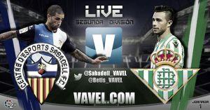 Sabadell - Real Betis en directo online
