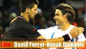 Paris Bercy : Novak Djokovic - David Ferrer, revivez le live