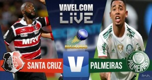 Resultado Santa Cruz x Palmeiras no Campeonato Brasileiro 2016 (2-3)