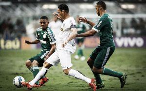 Ricardo Oliveira marca e Santos vence Palmeiras na Vila Belmiro