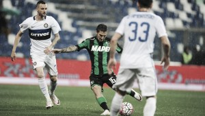 Sassuolo - Inter (0-1) in diretta, LIVE Serie A 2016/17. Candreva al 48'.