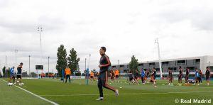 Cristiano Ronaldo ya trabaja sobre el césped