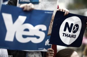 Thousands of Scots storm streets in last ditch referendum protest