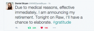 Daniel Bryan Retirement Announcement: Fan Reaction
