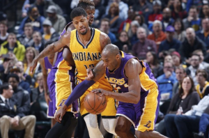 """Indiana Pacers Edge """"Old"""" Kobe's Los Angeles Lakers Late"""