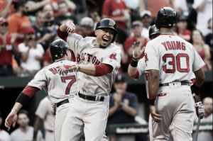 Mookie Betts hits three home runs in Boston Red Sox' 6-2 win over Baltimore Orioles