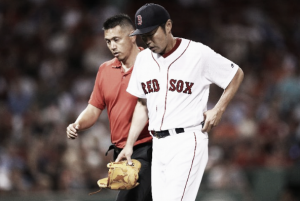 Boston Red Sox reliever Koji Uehara to miss one month with pectoral tear